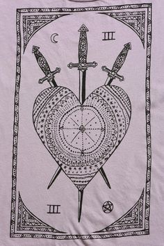 Truly Madly Deeply Swords & Tarot Cold Shoulder Tee