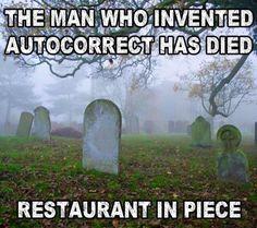 Ha! Serves him right!