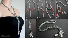 How to tie lariat necklaces / Jak wiązać lariaty