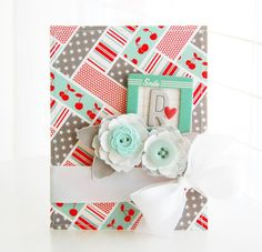 Roree Rumph created this quilted washi tape background