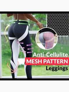 Reshape your legs with Anti-Cellulite Mesh Pattern Leggings! This honeycomb patterns and skillfully angled lines excel in banishing stubborn cellulites and r Honeycomb Shape, Honeycomb Pattern, Masseur Anti Cellulite, Combattre La Cellulite, Tighten Loose Skin, Pad Design, Sport Fitness, Slim Waist, High Waist