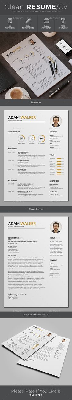 #Resume - Resumes Stationery Download here: https://graphicriver.net/item/resume/19744096?ref=jpixel55