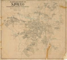 Planta da cidade de São Paulo (1924)                                                                                                                                                                                 Mais