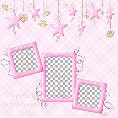 """Layout QP 4B CAFS Pink…..Quick Page, Digital Scrapbooking, Catch A Falling Star Collection, 12"""" x 12"""", 300 dpi, PNG File Format"""