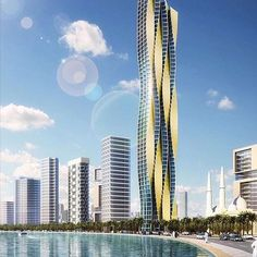 Burj Al Amwaj by @binghatti. Follow them for more amazing projects !
