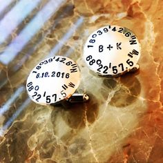 Initial Coordinates Personalized Cuff Links by BlueCornerCreasigns