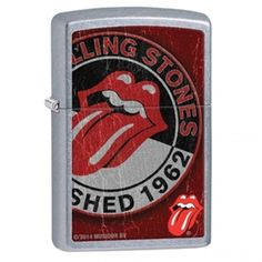 The iconic Rolling Stones logo is displayed in rugged, distressed color imaging on a Street Chrome™ lighter. Comes packaged in an environmentally friendly gift box. For optimal performance, use with Z