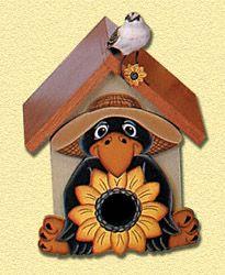 Crow Birdhouse Woodcraft Pattern