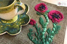 Bordado, embroidery, flower, flores,