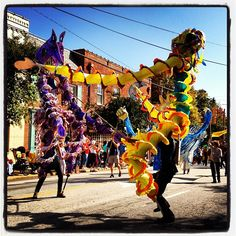 Hillsborough's Fresh Roots Festival; Handmade Parade #puppets #northcarolina