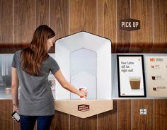 「Briggo Coffee Haus」は、個々の顧客の名前と注文を記憶し、カフェオレなどを入れてくれる産業用ロボット