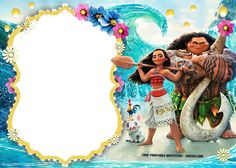 Free Moana Birthday Invitation Template | FREE Invitation Templates - Drevio