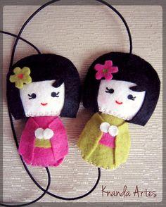 Felt Kokeshi Dolls