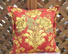 Waverly Pillow Cover French Country With Faux by BuffaloDesigns, $18.00