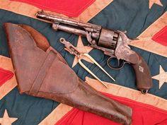 Gen J.E.B. Stuart carried this type of french import revolver (LeMat pistol)