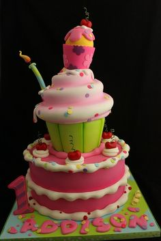 1st Birthday Cake ~ Girl