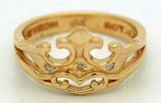 Chevron Royale Crown Ring $250.00