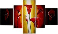 Cuadros Tripticos Polipticos Florales Abstractos Modernos - $ 690 ...