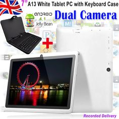 Maxtouuch 7 Inch Android 4.1 Jelly Bean Dual Camera Tablet PC Purple + Keyboard case