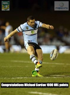 Congratulations Map Sports Michael Gordon on reaching 1000 NRL (National Rugby League) points on the weekend.  #Sharkies - Cronulla Sharks Rugby League Football Club  Penrith Panthers  #superstar https://www.facebook.com/mapsports/photos/a.430180459986.60929.44136269986/10150410117604987/