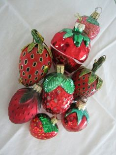 Strawberry Ornament Collection