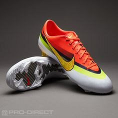 Nike Football Boots - Nike Mercurial Vapor IX CR FG - Firm Ground - Soccer Cleats - White-Volt-Total Crimson