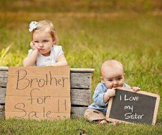 Brother and sister ...LOL