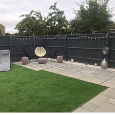 This two-tone seating area is coloured with Cuprinol Garden Shades for litres), using Dusky Gem on the fence and Seagrass on the… Backyard Garden Design, Backyard Fences, Garden Fencing, Garden Bar, Backyard Ideas, Grey Gardens, Back Gardens, Outdoor Gardens, Cuprinol Garden Shades