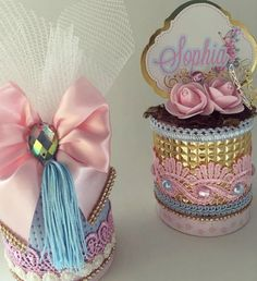 Birthday Bag, Boy First Birthday, Birthday Parties, Tin Can Crafts, Diy And Crafts, Arts And Crafts, Cinderella Birthday, Crafts Beautiful, Kid Party Favors