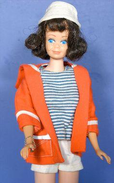 Vintage 1960s Barbie Friend Brunette SL Midge Doll w Complete Resort Set | eBay