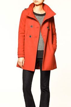 love the shape and color of this double breasted coat (zara)