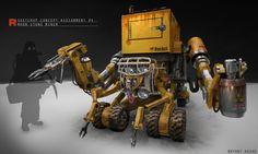 sketchup mining vehicle, bryant Koshu on ArtStation at https://www.artstation.com/artwork/n6xz9