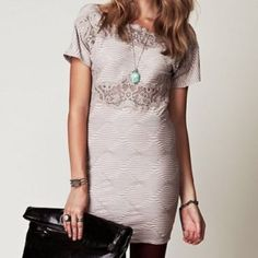FREE PEOPLE Dress Bodycon Classy Eyelet Mini Bell Size Medium.  New without tags. $228 Retail + Tax.  • Beautiful crochet inset mini shift dress featuring diamond geometric pattern detailing and comfortable, stretchy silhouette. • Low v cutout open back with zipper. • Perfect for dressing up or down. • Cotton, polyester, spandex.  {Southern Girl Fashion - Closet Policy}  ✔️ Same-Business-Day Shipping (10am CT). ✔️ Reasonable best offer considered when submitted with the offer button. ❌ No…