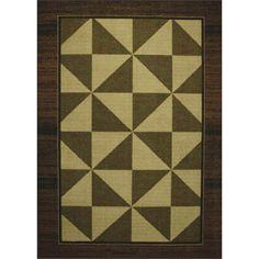 Tufted Sisal Geometric Print Brown/Beige Indoor/Outdoor Area Rug (5' x 7')