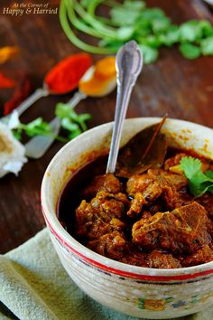 Red Mutton Curry {Rajasthani Laal Maas}