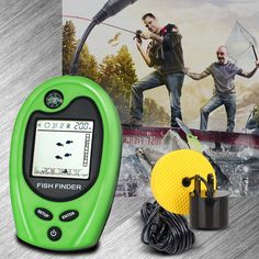 Fish finders lucky brand wired FF818 depth sonar sensor fishfinder 328feet(100m) deeper fishing finder with tools