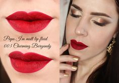 Pupa Stay Gold!  Holiday 2015 Pupa I'am matt lip fluid 003 Charming Burgundy