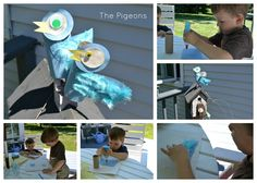 Mo Willems - Pigeon tp roll craft - feathers, big wiggly eyes