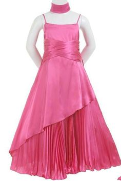 Fuchsia Spaghetti A Line Ruffles Customzied Designer Flower Girls Dresses