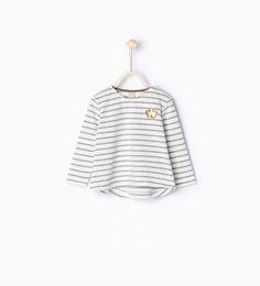 Organic cotton striped T-shirt-T-shirts-Baby girl-Baby | 3 months - 3 years-KIDS | ZARA United States