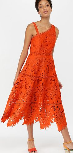 0bab6c6413a6 11 Exciting orange lace images | Ball gown, Elegant dresses, Formal ...