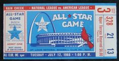 1966 ALL STAR GAME St. Louis  stub