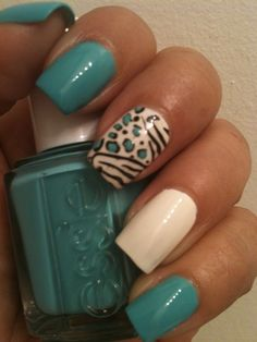 Zebra/Cheetah - Nail Art Gallery