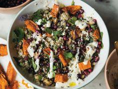 Recept van Veronique Leysen: Bulgursalade met zoete aardappel en lavendel - Libelle Lekker