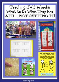Teaching CVC Words:  What to Do When They Are STILL NOT GETTING IT!   HeidiSongs #beginning reading