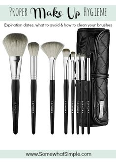 Make up hygiene- when to toss it, how to clean your brushes and more helpful tips.