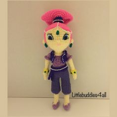 Crochet Shimmer genie doll Littlebuddies4all