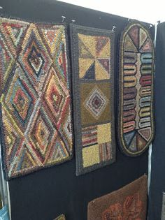 Beautiful geometric rugs.  Love the muted colors...