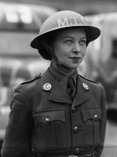 13th April 1940: A woman ambulance driver of the British Women's Auxiliary Army, Motor Transport Corps or MTC, in France. (Photo by Hulton Archive/Getty Images) ~