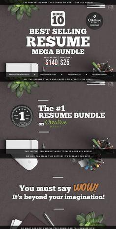 10 Best Selling Resume Mega Bundle Template PDF